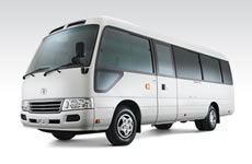 21 seat Toyota Coaster bus for hire
