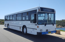 53 seat Mercedes Benz school bus for hire and charter