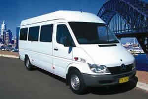 15 seat luxury Mercedes-Benz Sprinter bus for rent and hire