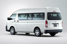 12 seat Toyota Commuter bus for hire