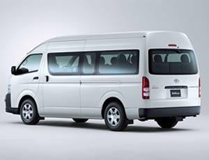 e64068de7b 12 seat Toyota Commuter - automatic - hire from Bus 4WD Hire - Bus Fleet
